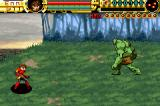 Advance Guardian Heroes Game Boy Advance Fight a tall boss.