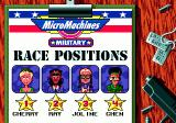 Micro Machines: Military Genesis An overview of the positions after the race.
