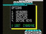 Gunrunner ZX Spectrum Main menu