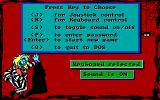 Adventures of Beetlejuice: Skeletons in the Closet DOS Main menu