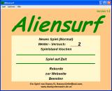 Aliensurf Windows Main menu