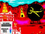 Buffalo Bill's Wild West Show ZX Spectrum The spinning girl and the crosshair