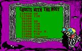 Adventures of Beetlejuice: Skeletons in the Closet DOS Highscore board