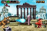 Altered Beast: Guardian of the Realms Game Boy Advance The wolf shoots a red minotaur.