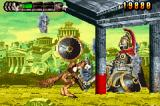 Altered Beast: Guardian of the Realms Game Boy Advance Destroy his house to win.