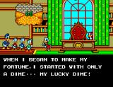 The Lucky Dime Caper starring Donald Duck SEGA Master System Intro,  notice Magica De Spell peering through the window
