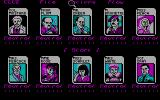 Clue: Master Detective DOS Player Selection Screen (CGA)