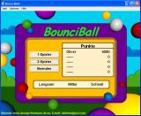 BounciBall Windows Main menu & Highscore