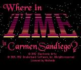 Where in Time is Carmen Sandiego? SNES Title screen