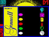 Trivial Pursuit: A New Beginning ZX Spectrum Player input screen