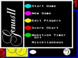 Trivial Pursuit: A New Beginning ZX Spectrum Main menu