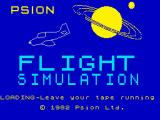The Flight Simulator ZX Spectrum Loading screen