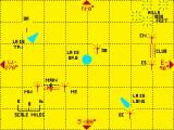 The Flight Simulator ZX Spectrum Navigational map