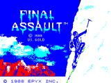 Final Assault ZX Spectrum Loading screen