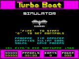 Turbo Boat Simulator ZX Spectrum Main menu