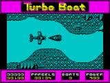 Turbo Boat Simulator ZX Spectrum Waiting for the plane to drop a packet