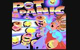 Pot Panic Commodore 64 Pot Panic in-game logo showing the cover-art