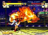 "Real Bout Fatal Fury Neo Geo Andy's Yami Abise Geri was very accurate, allowing to cause a ""burning status"" in Franco Bash!"