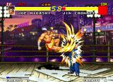Real Bout Fatal Fury Neo Geo Joe's Ougon no Kakato striking Chonrei's face.
