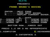 Frank Bruno's Boxing ZX Spectrum Main Menu