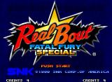 Real Bout Fatal Fury Special Neo Geo Title screen.