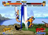 Real Bout Fatal Fury Special Neo Geo Remaining only 20 seconds to finish the match, Chonrei receives an inconvenient Kim's Hi En Zan.