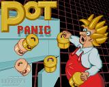 Pot Panic Amiga Pot Panic in-game logo showing the cover-art