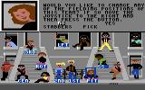 Street Sports Baseball Commodore 64 Setting up your team