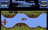 Turbo Boat Simulator Commodore 64 Gameplay on the first level