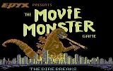 The Movie Monster Game Commodore 64 Title screen