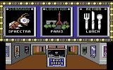 The Movie Monster Game Commodore 64 Selection screen in the movie foyer