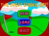 The Great Stroke-Off! Windows Main menu