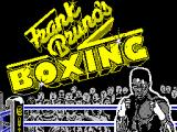 Frank Bruno's Boxing ZX Spectrum Loading screen