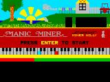Manic Miner ZX Spectrum Loading screen
