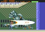 Strider Genesis Taking on a mechanical gorilla in the second stage.