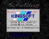 Scrolling Walls Amiga Selection screen
