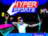 Hyper Sports ZX Spectrum Loading title