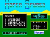 Hyper Sports ZX Spectrum Controls menu