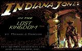 Indiana Jones in the Lost Kingdom Commodore 64 Alternative title screen showing the cover art