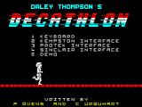 Daley Thompson's Decathlon ZX Spectrum Options menu