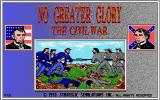 No Greater Glory: The American Civil War Amiga Title screen
