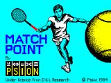 Tournament Tennis ZX Spectrum Loading screen