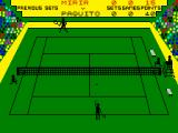 Tournament Tennis ZX Spectrum Serving