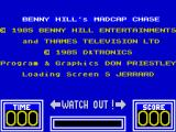 Benny Hill's Madcap Chase ZX Spectrum Main credits