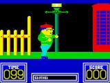 Benny Hill's Madcap Chase ZX Spectrum Walking along the road