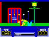 Benny Hill's Madcap Chase ZX Spectrum Clattered a lamp-post