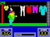 Benny Hill's Madcap Chase ZX Spectrum She's laying it all on the line