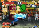 Real Bout Fatal Fury Special Neo Geo Terry attacks with his Burn Knuckle and Cheng Sinzan tries to stop this move using his Belly Blast.
