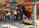 Real Bout Fatal Fury Special Neo Geo Alter-ego match: with some raging power, Yamazaki was self-caught (?) by his super move Guillotine.
