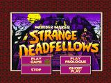 Murder Makes Strange Deadfellows DOS Game Main Menu